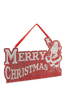KURT ADLER Wooden Merry Christmas sign