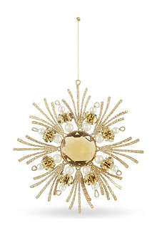KURT ADLER Gold and pearls snowflake 14cm