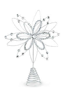 KURT ADLER Glitter wire tree topper 30cm