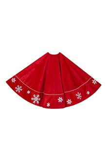 KURT ADLER Snowflake tree skirt