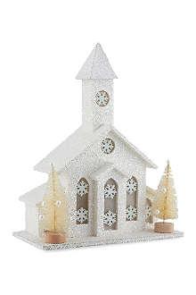 KURT ADLER LED glitter chapel 30cm