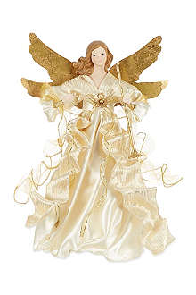 KURT ADLER Traditional gold/ivory angel tree top 14