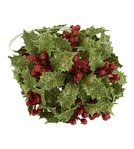HANGING ORNAMENT Holly Berry bauble 10cm
