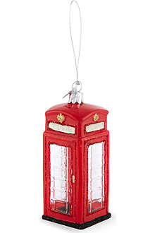 KURT ADLER British phone booth decoration