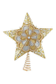 KURT ADLER Traditional star tree-topper 32cm