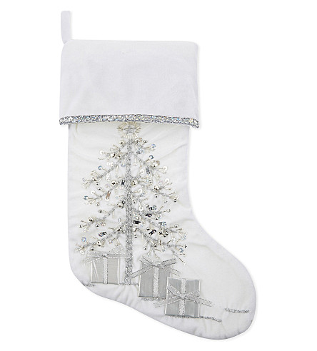 HANGING ORNAMENT Sequined Christmas stocking 40cm