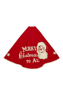 KURT ADLER Santa Christmas tree skirt