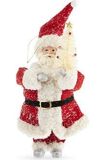 KURT ADLER Glitter Santa ornament 24cm