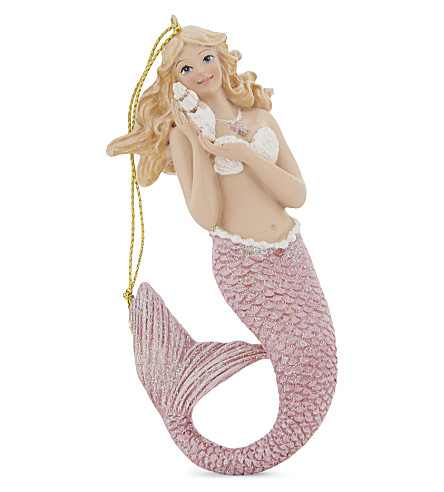 HANGING ORNAMENT Mermaid glitter tree decoration 11cm