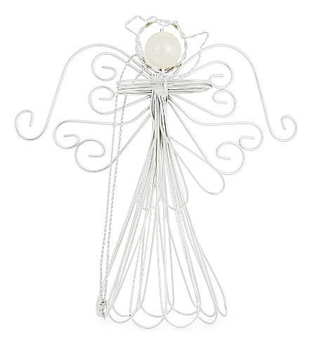 HANGING ORNAMENT Faux-pearl angel tree topper 10.5cm
