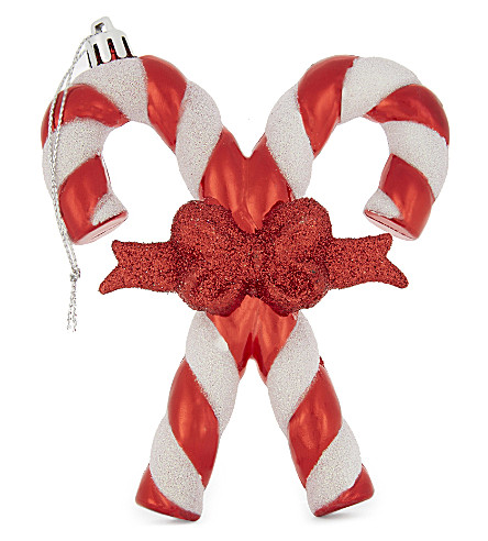 HANGING ORNAMENT Striped candy cane decoration 11.5cm