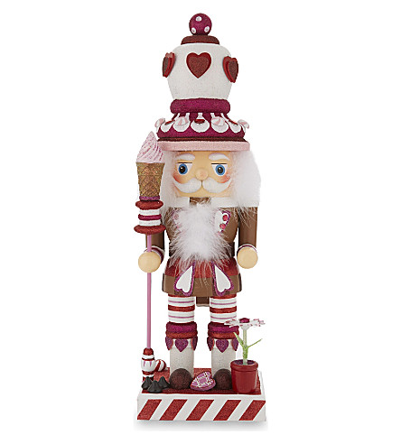 HANGING ORNAMENT King of Hearts wooden nutcracker 66cm