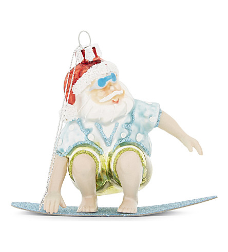 HANGING ORNAMENT Beach santa tree ornament 10.5cm