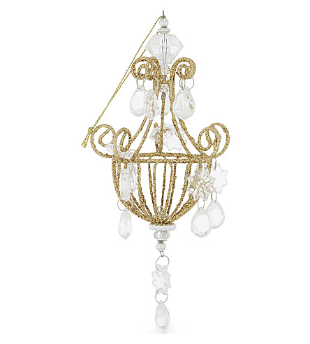 HANGING ORNAMENT Glass chandelier Christmas decoration 17cm