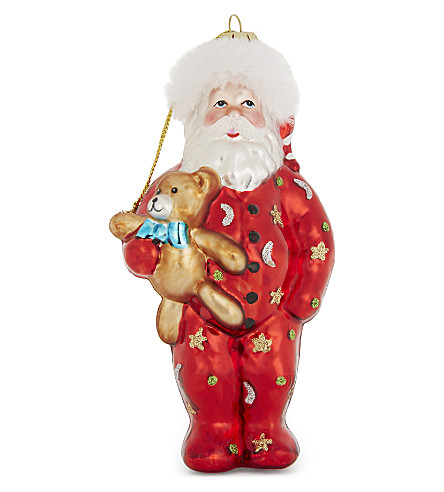 HANGING ORNAMENT Santa and teddy hanging ornament