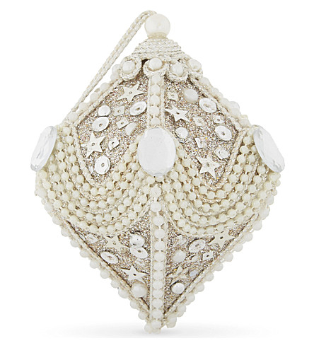 HANGING ORNAMENT Beaded Christmas decoration 12cm