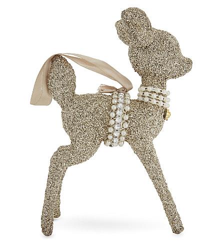 HANGING ORNAMENT Glittered deer hanging ornament