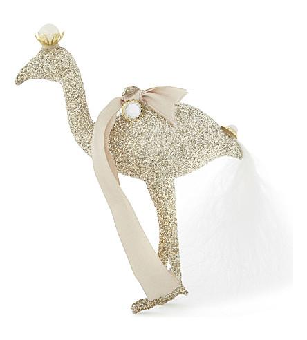 HANGING ORNAMENT Glittering flamingo decoration 14cm