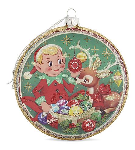 HANGING ORNAMENT Elf disc hanging ornament