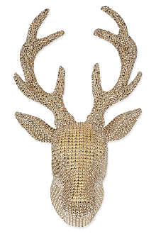 COACH HOUSE Bling sequinned hanging deer head