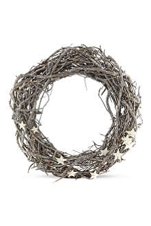 COACH HOUSE Wooden wreath with mini stars