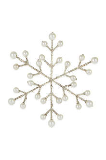COACH HOUSE Glitter beads snowflake