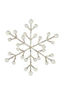 COACH HOUSE Glitter beads snowflake
