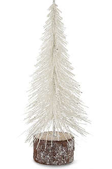 COACH HOUSE Small white sparkle Christmas tree