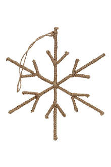COACH HOUSE Hanging jute snowflake decoration