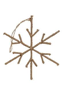 COACH HOUSE Hanging jute snowflake decoration