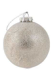 COACH HOUSE Metallic grey glass bauble
