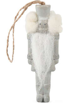 COACH HOUSE Nutcracker wooden hanging decoration