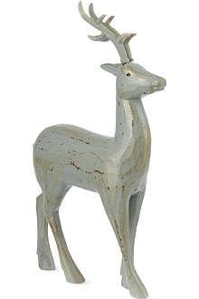 COACH HOUSE Wooden reindeer 27.5cm