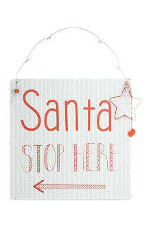 COACH HOUSE Santa stop here sign