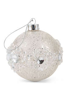 COACH HOUSE Embellished glitter bauble