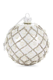 COACH HOUSE Pearl encrusted bauble 10cm