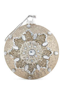 COACH HOUSE Antique gold lace bauble