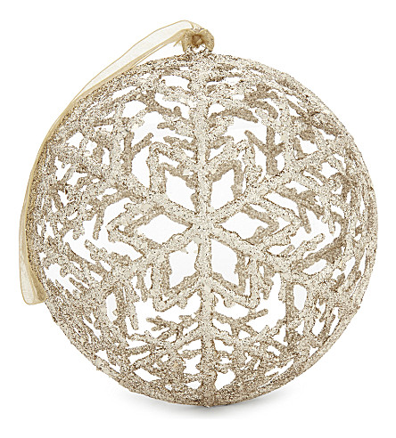 HANGING ORNAMENT Snowflake bauble 13cm