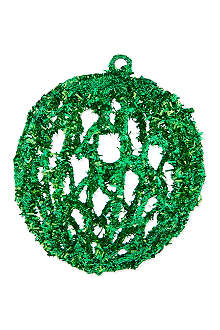 GOODWILL Open glitter bauble 10cm