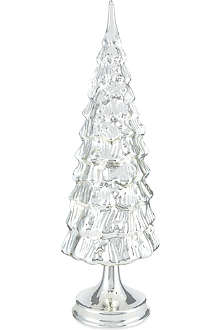 GOODWILL Tall silver glass Christmas tree 42cm