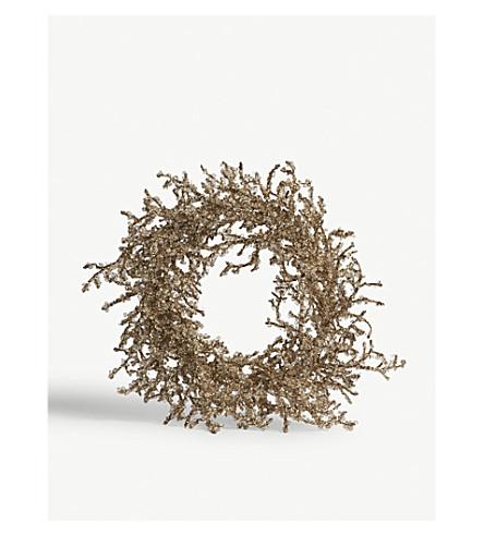 HANGING ORNAMENT Ice twig wreath 50cm