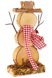 GOODWILL Wooden snowman decoration 18cm