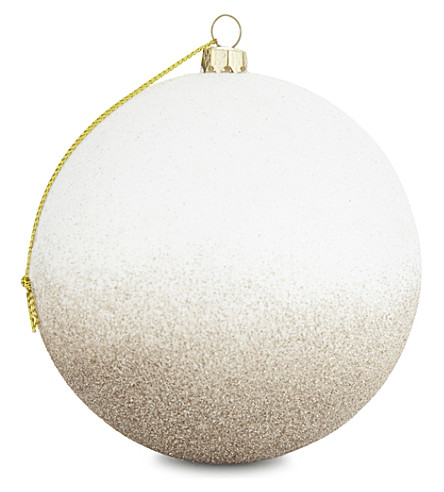 HANGING ORNAMENT Glitter gradient bauble 10cm