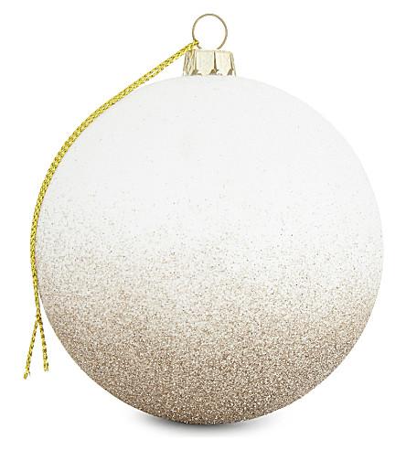 HANGING ORNAMENT Gradient glitter bauble 6cm