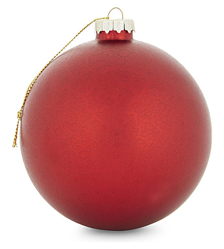 HANGING ORNAMENT Large stained metallic glass bauble