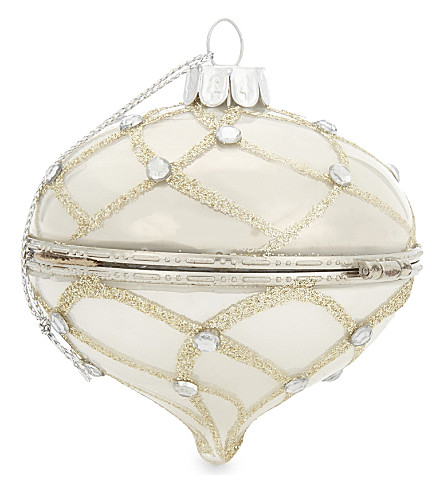 HANGING ORNAMENT Glass locket-style hanging decoration 7cm