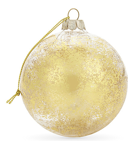 HANGING ORNAMENT Metallic glass baubles