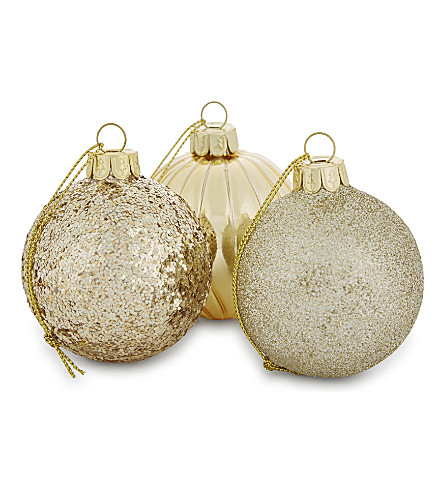 HANGING ORNAMENT Set of 12 glass christmas baubles