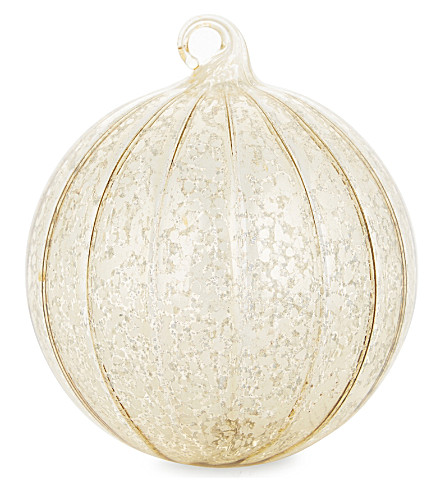 HANGING ORNAMENT Vertically striped glass Christmas decoration 8.5cm