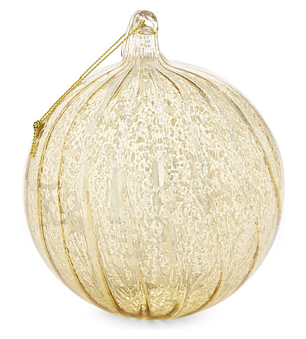 HANGING ORNAMENT Oversized striped glass bauble